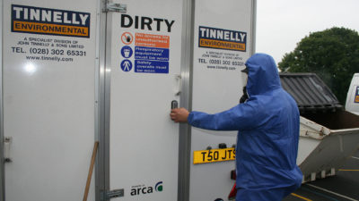 Asbestos removal lorry