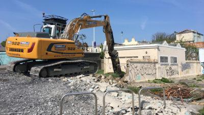 Dun Laoighaire Baths   Mechanical Demolition 1