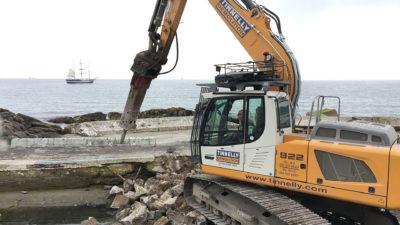 Dun Laoighaire Baths   Mechanical Demolition 4
