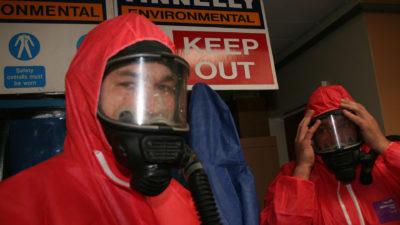 Preparing for asbestos removal